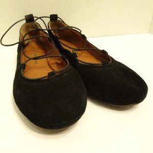 LUCKY BRAND Black Suede Ballet Flats Shoes